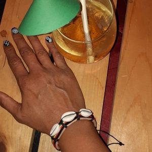 Leather Rasta Bracelet